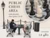 Public Chess Area Set With Playable Chess Game
