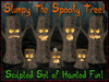 Stumpy The Spooky Tree! Set of Sculpted Trees w/3D Faces - Haunted Halloween Decorations - Copy/Mod