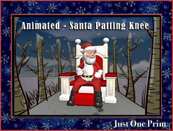 Santa Patting Knee - Animated
