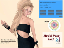 Model Pose Hud with 50 Poses and another hud empty and modificable for insert  a lot of poses *PROMO*