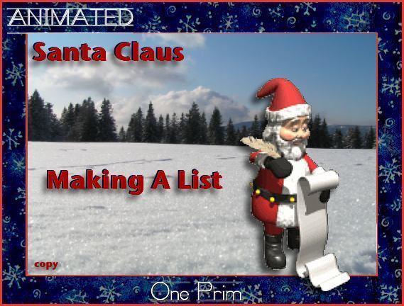 Santa Claus Making A List - Animated -