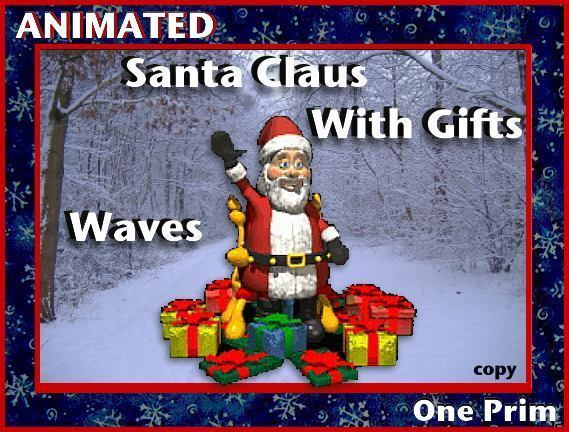 Santa Claus With Gifts - Waves