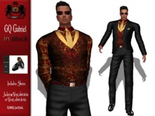 GQ Gabriel Outfit ~ In Black & Red Brocade - By 69 Park Ave