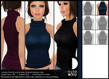 Nyte'N'Day - Token Sleeveless Sweater - Blue