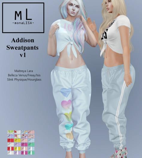 -mL- Addison Sweatpants v1 (Maitreya/3Belleza/2Slink)