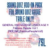 Sound Quiz PK9_GKN_FamousPeopleVol1 add on pack