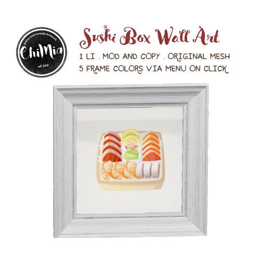 ChiMia:: Sushi Box Wall Art