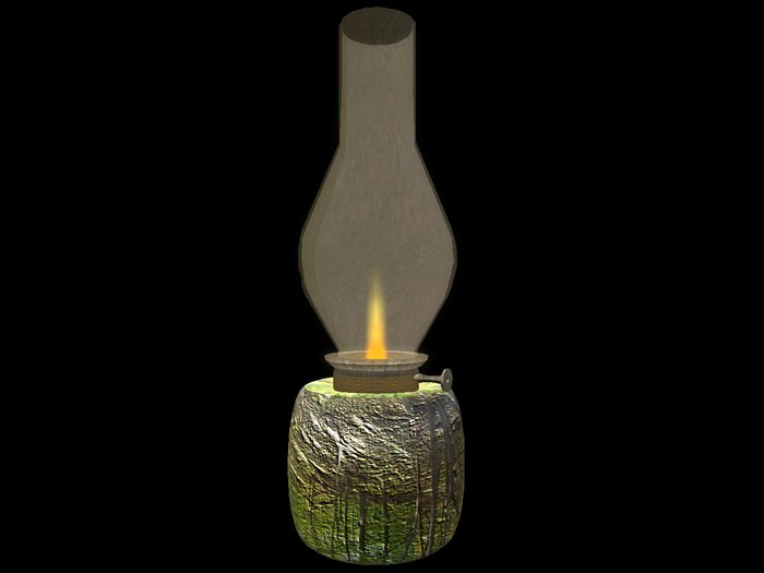 Paladin's Bedside Oil Lamp - Fall