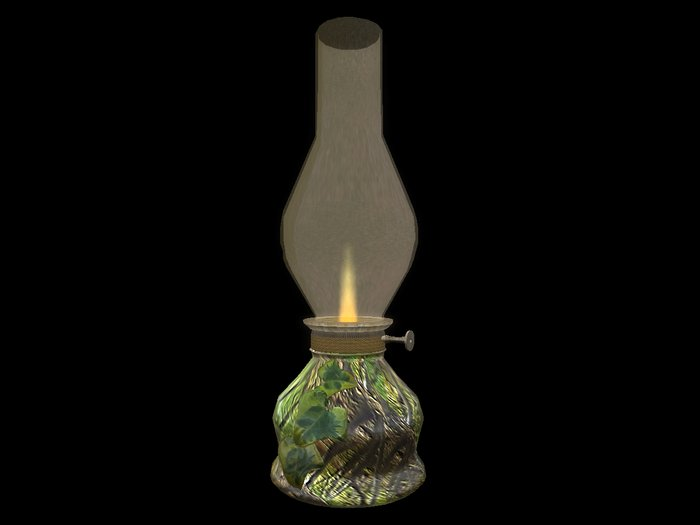 Paladin's Bedside Oil Lamp - Fall vined