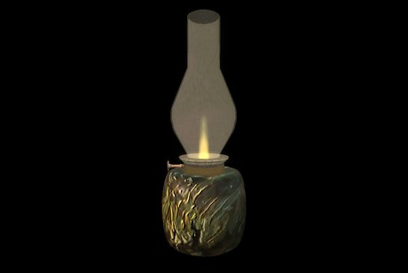 Paladin's Bedside Oil Lamp - Glass