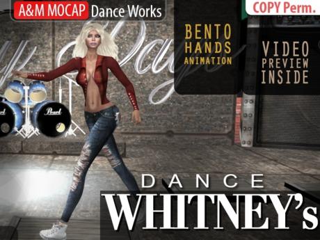 A&M: Whitney - dance animation (BENTO) :: #TAGS - disco 80, 80s, 90s, retro, abba