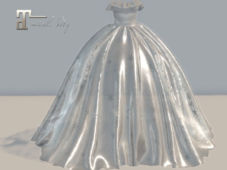 Second Life Marketplace, Shimmering Sheer Silver Christmas Ball Gown