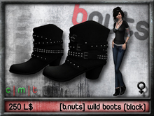 [b.nuts] wild boots (black)