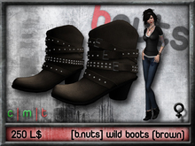 [b.nuts] wild boots (brown)