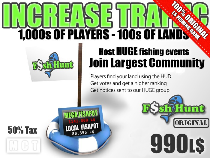 Fish Hunt Buoy - Increase Land Traffic (50% tax version)