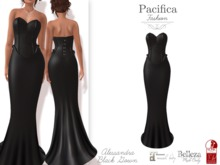 Pacifica Fashion – Alessandra Black Gown - Belleza, Freya, Venus, Isis, Maitreya, Slink, Physique, Hourglass