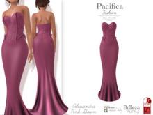 Pacifica Fashion – Alessandra Pink Gown - Belleza, Freya, Venus, Isis, Maitreya, Slink, Physique, Hourglass