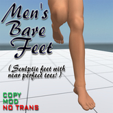 Men's Bare Feet 2.0 Sculptie Feet with Toes