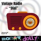 "Robot Dolly - Vintage radio - ""Dial"""
