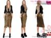 %50SUMMERSALE Full Perm Leather Skirt for Ocacin, Slink, Maitreya, Belleza All, Ebody, Tonic, TMP, Fitmesh 5 Sizes