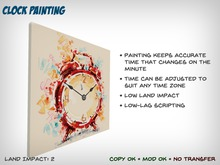 Clock Painting - Keeps Accurate Time for Any Time Zone