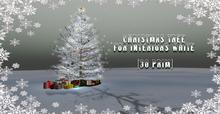 Christmas tree for interiors white