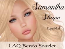 "Samantha Shape ""LAQ Bento Scarlet Head"""