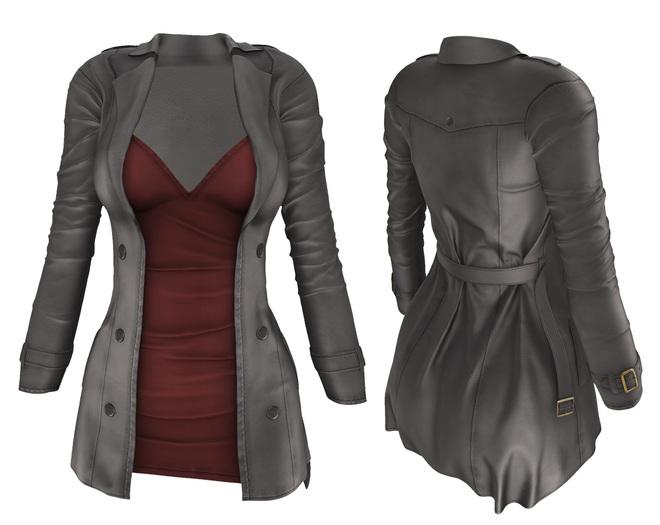 adorsy - Natasha Coat with Dress Grey - Maitreya