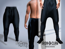 """IRON CLAW Fitted Mesh Baggy Pants (Black) """"Belleza Jake""""."""