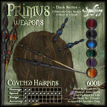 )<SF>(  Primus Coveted Hairpins 4.0 (dark) (boxed)
