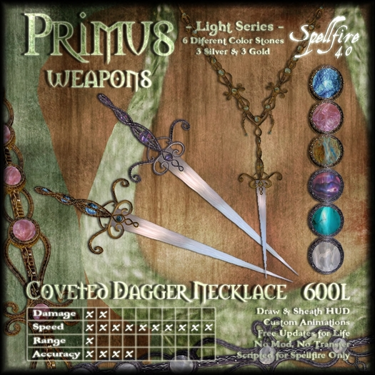 )<SF>(  Primus Coveted Dagger Necklace 4.0 (light)