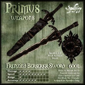 )<SF>(  Primus Frenzied Berserkr Sword 4.0