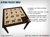 Customizable Sliding Puzzle Table - Add Your Own Textures