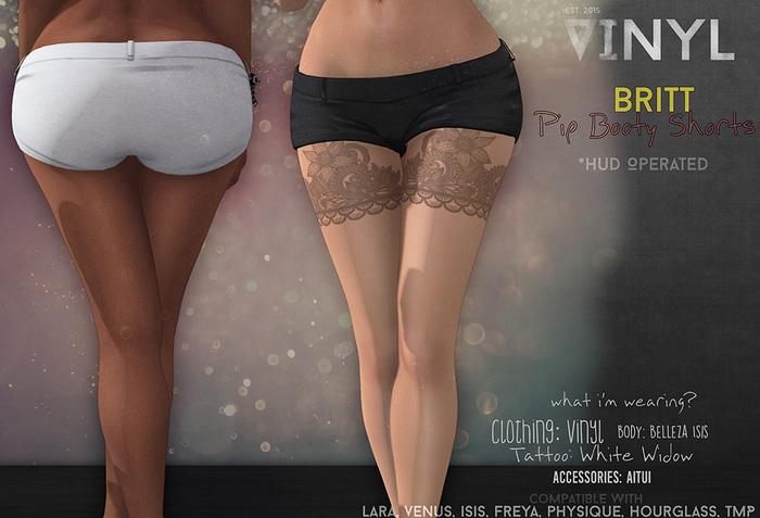 Vinyl - Britt Shorts Pak BLACK