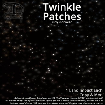 [DDD] Twinkle Groundcover Patches - Versatile Speed Adjustable Magical Glitter and Shimmer Spots for the ground