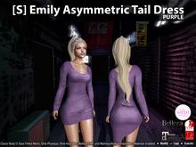 [S] Emily Asymmetric Tail Dress Purple