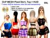 OnP Plaid Skirt Top and HUD