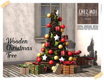 Wooden Christmas Tree (Simple) ♥ CHEZ MOI