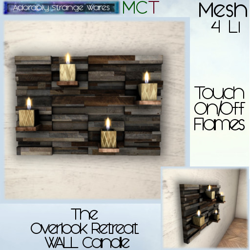 ~ASW~ The Overlook Retreat Wall Candles