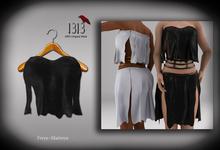 (*<*) 1313 Acorna Top - Black Leather * Maitreya Lara Belleza Freya *