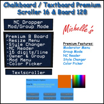 Chalkboard Premium - B (Small) w. Scroller