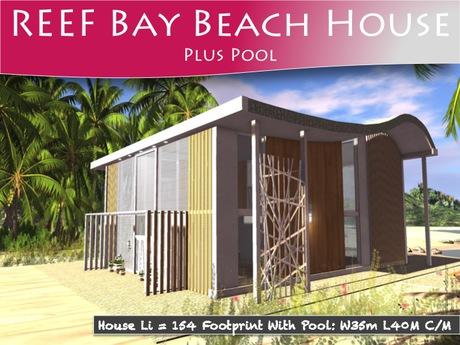 Moco Emporium ~ Reef Bay Beach House Plus Pool & Accessories  Pack 1
