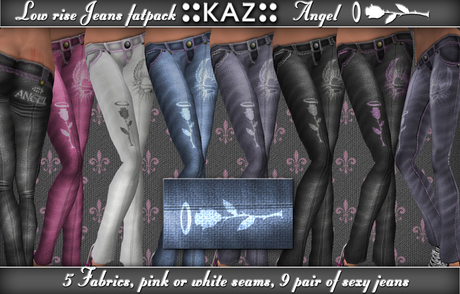 ::KAZ:: low rise sexy jeans *ANGEL* 5 colors fatpack