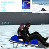 Mesh ridable sled for 2-crate