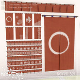 kisetsu - Noren Set - Red