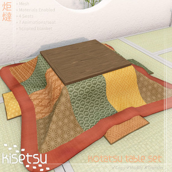 Kisetsu Kotatsu Table Set
