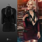 Valentina E. Mademoiselle Tux Dress Black