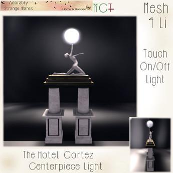 ~ASW~ The Hotel Cortez Centerpiece Light