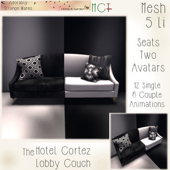 ~ASW~ The Hotel Cortez Lobby Couch