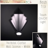 ~ASW~ The Hotel Cortez Wall Sconce -White
